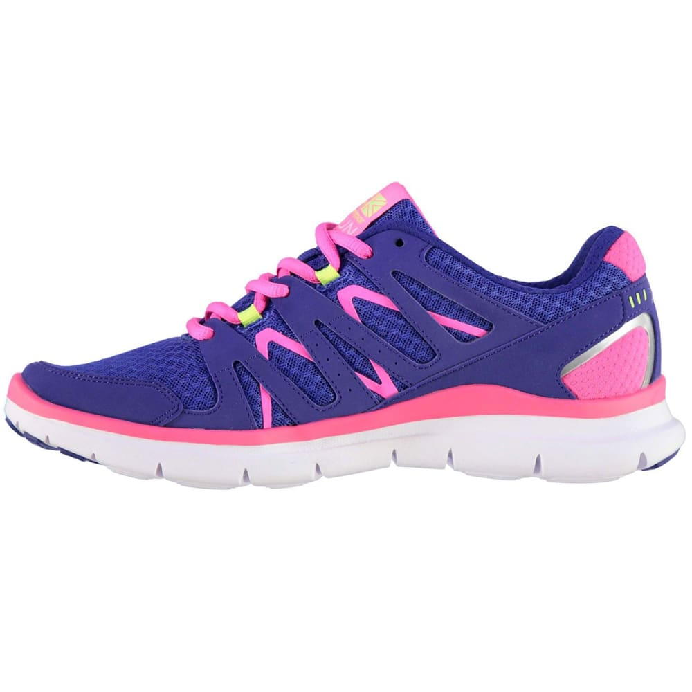 KARRIMOR Girls' Duma Running Shoes - Blue/Pink/Lime