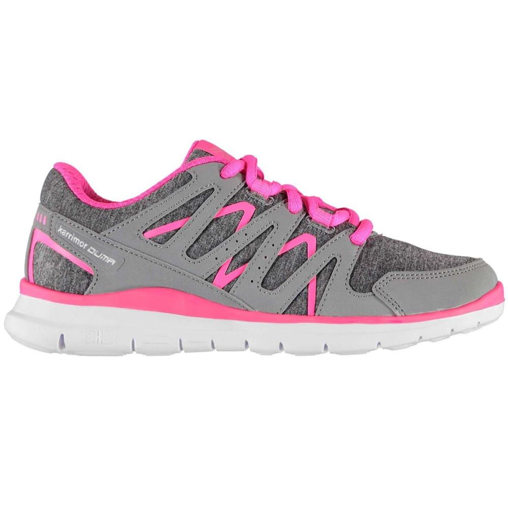 KARRIMOR Girls' Duma Running Shoes - Grey Marl/Pink