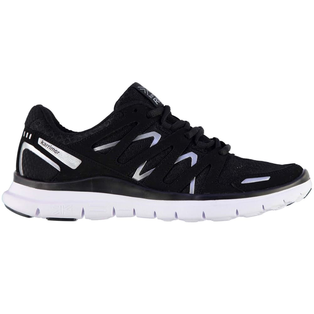 KARRIMOR Women's Duma Running Shoes - BLACK/SILVER