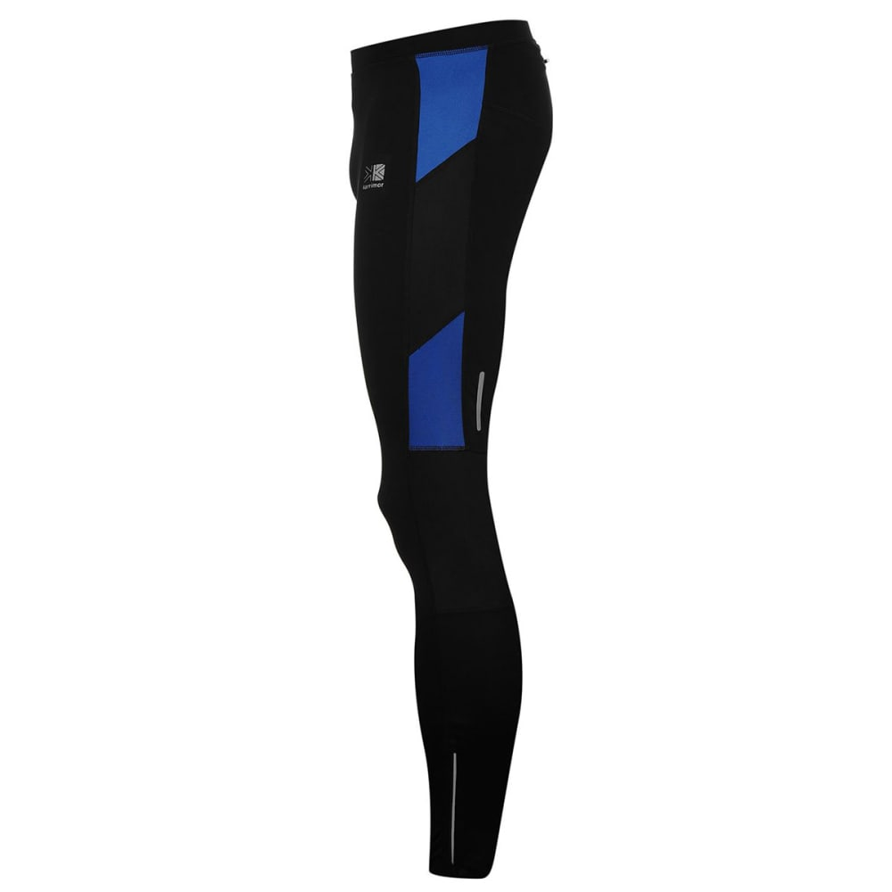 KARRIMOR Men's Running Tights - BLACK/BLUE