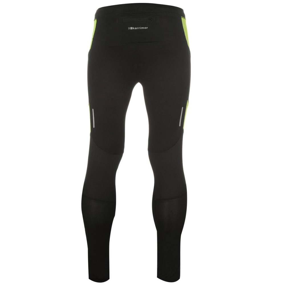 KARRIMOR Men's Running Tights - Black/Fluo Yell