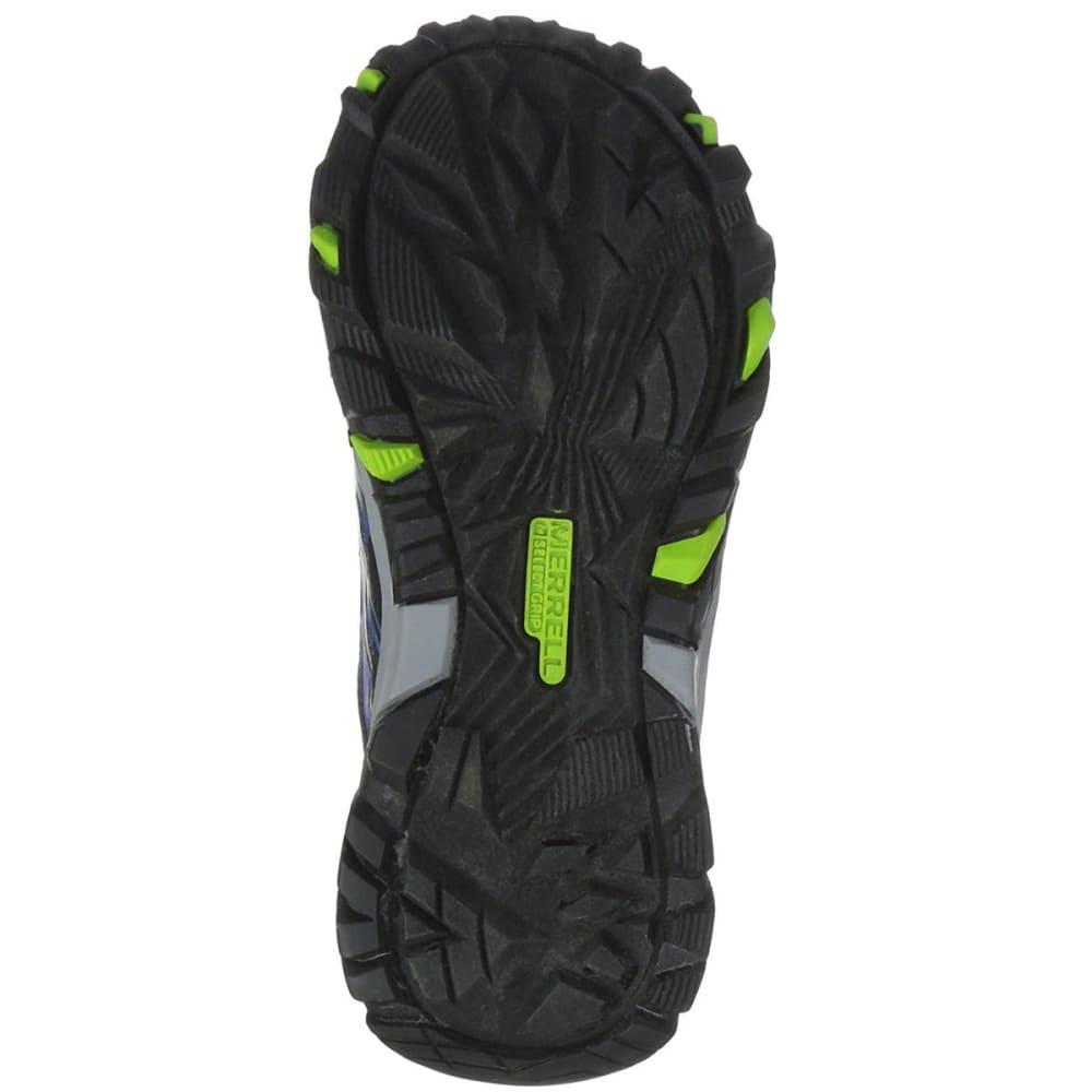 MERRELL Big Boys' Moab FST Low A/C Waterproof Hiking Shoes - NAVY