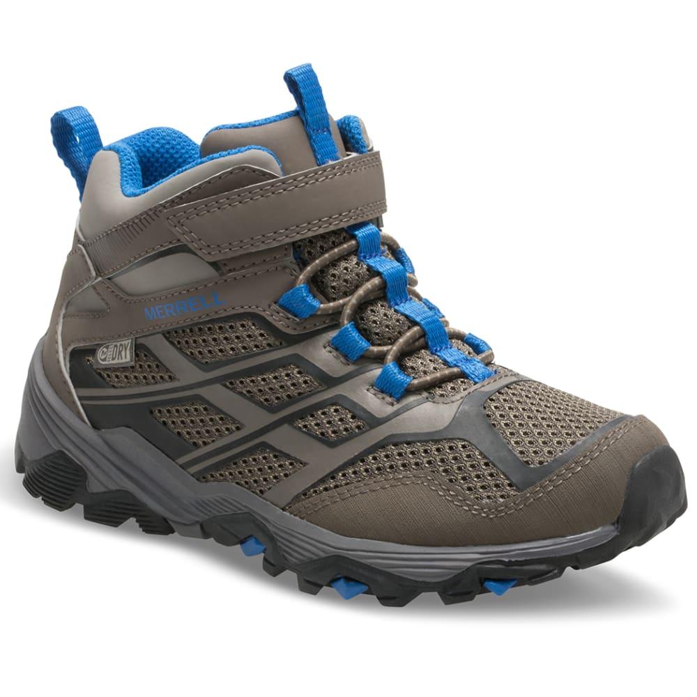 MERRELL Big Kids' Moab Mid Waterproof Hiking Boots - GUNSMOKE