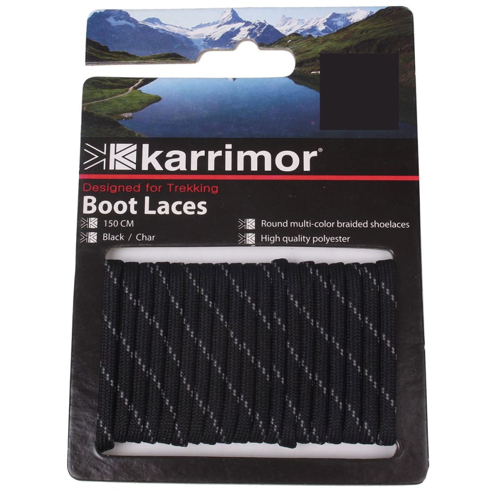 KARRIMOR Round Boot Laces - BLK/CHARCOAL 120 CM