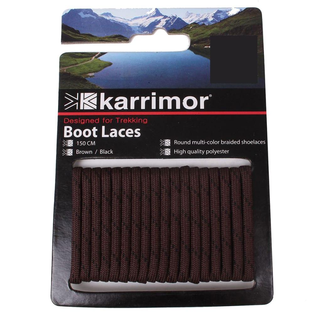 KARRIMOR Round Boot Laces - BROWN/BLACK 120 CM