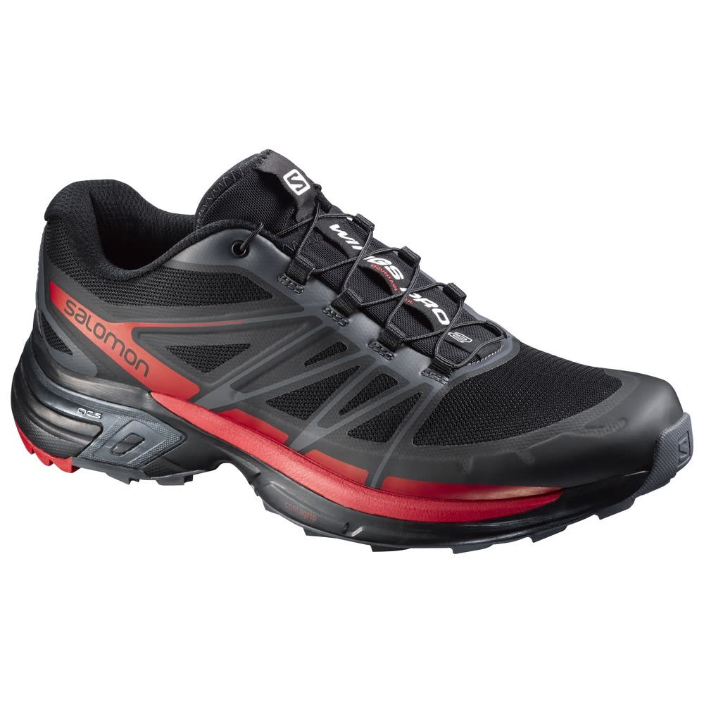 SALOMON Men's Wings Pro 2 Trail Running Shoes - BLACK