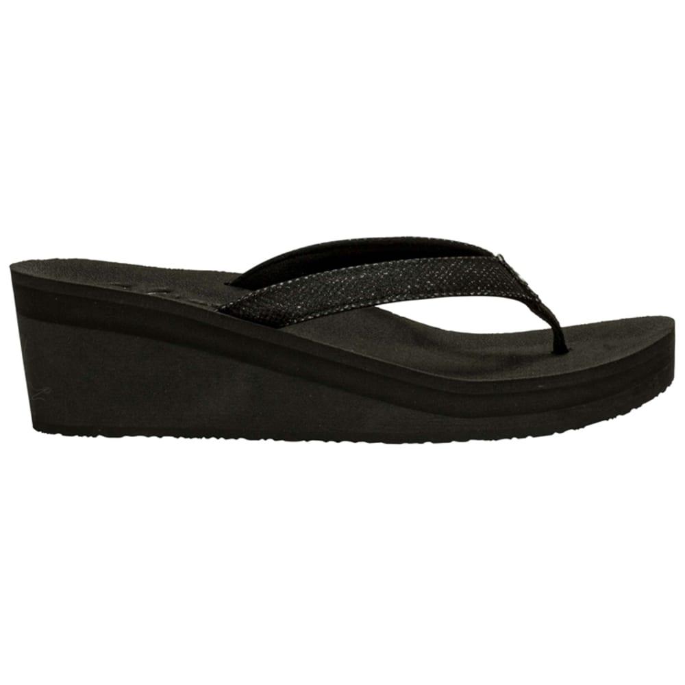 COBIAN Women's Grace Wedge Sandals - BLACK