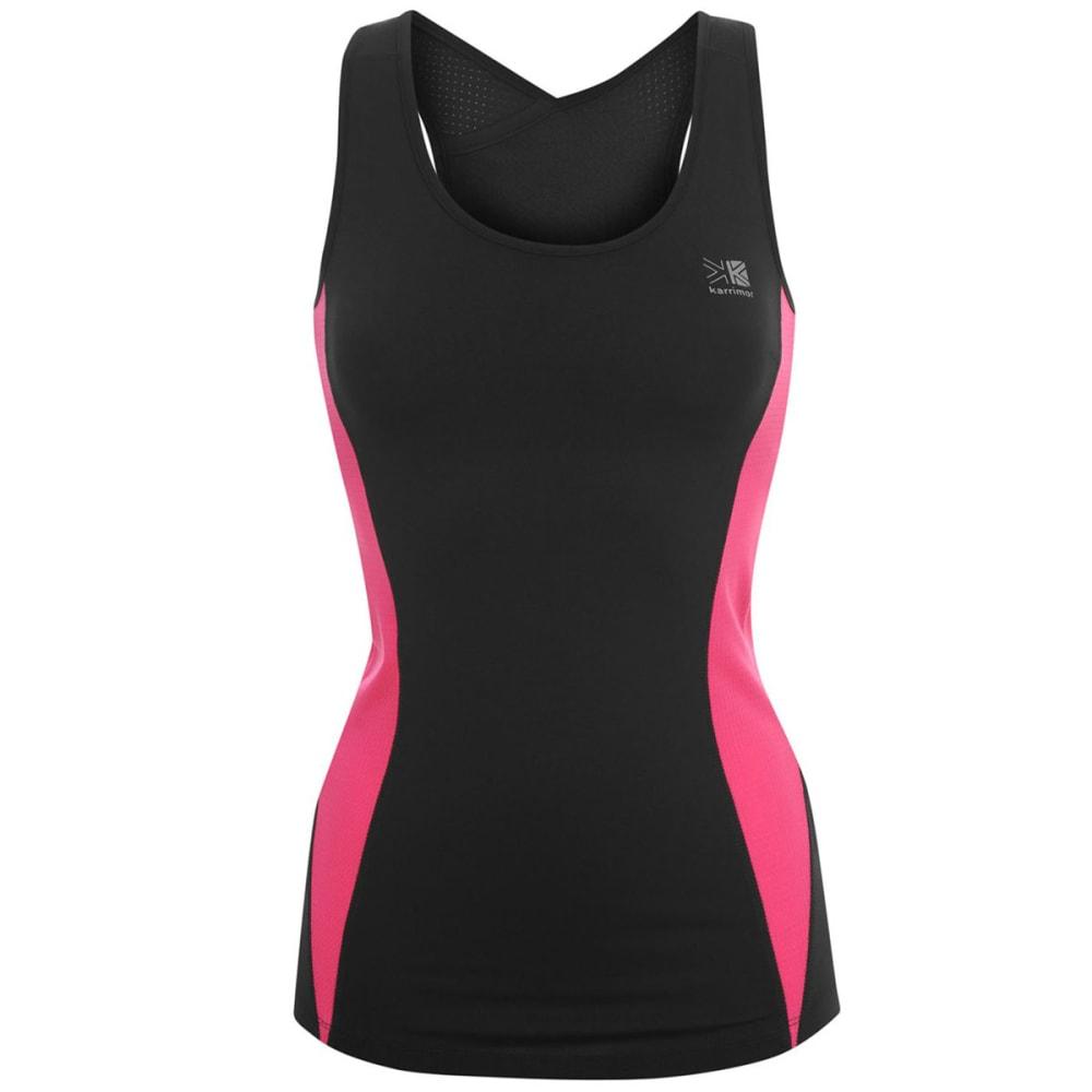 KARRIMOR Women's Long Bra Top - BLACK/PINK