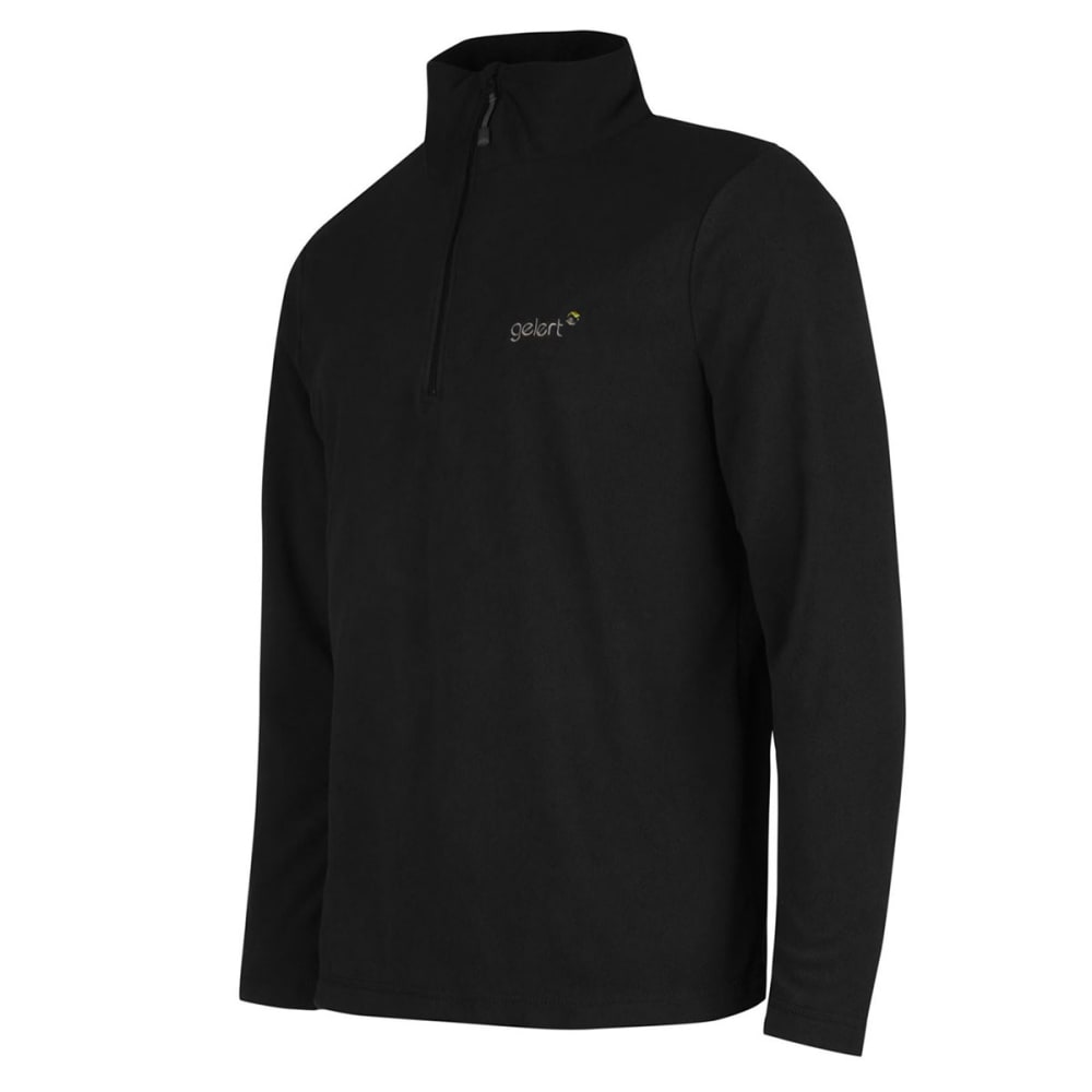 GELERT Men's Atlantis Microfleece Quarter Zip Pullover - BLACK
