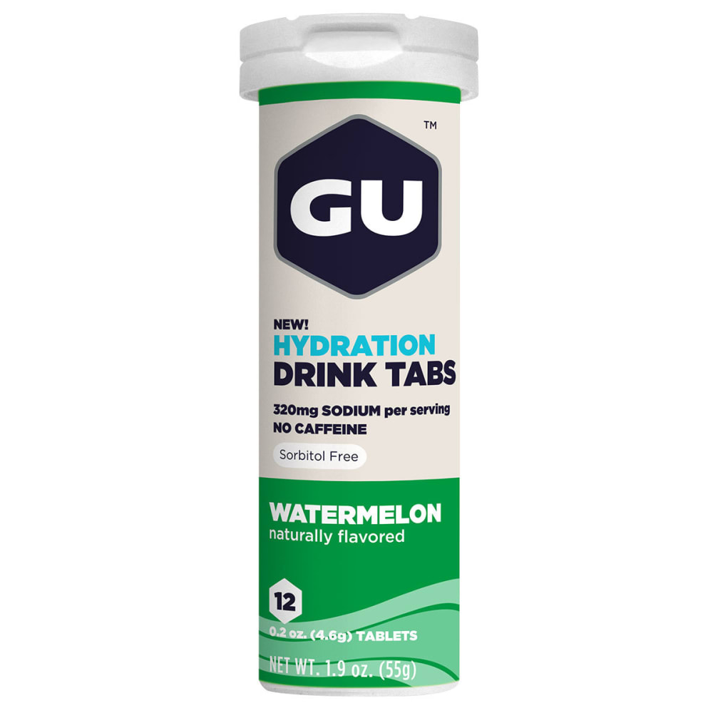GU Watermelon Hydration Drink Tabs - NO COLOR