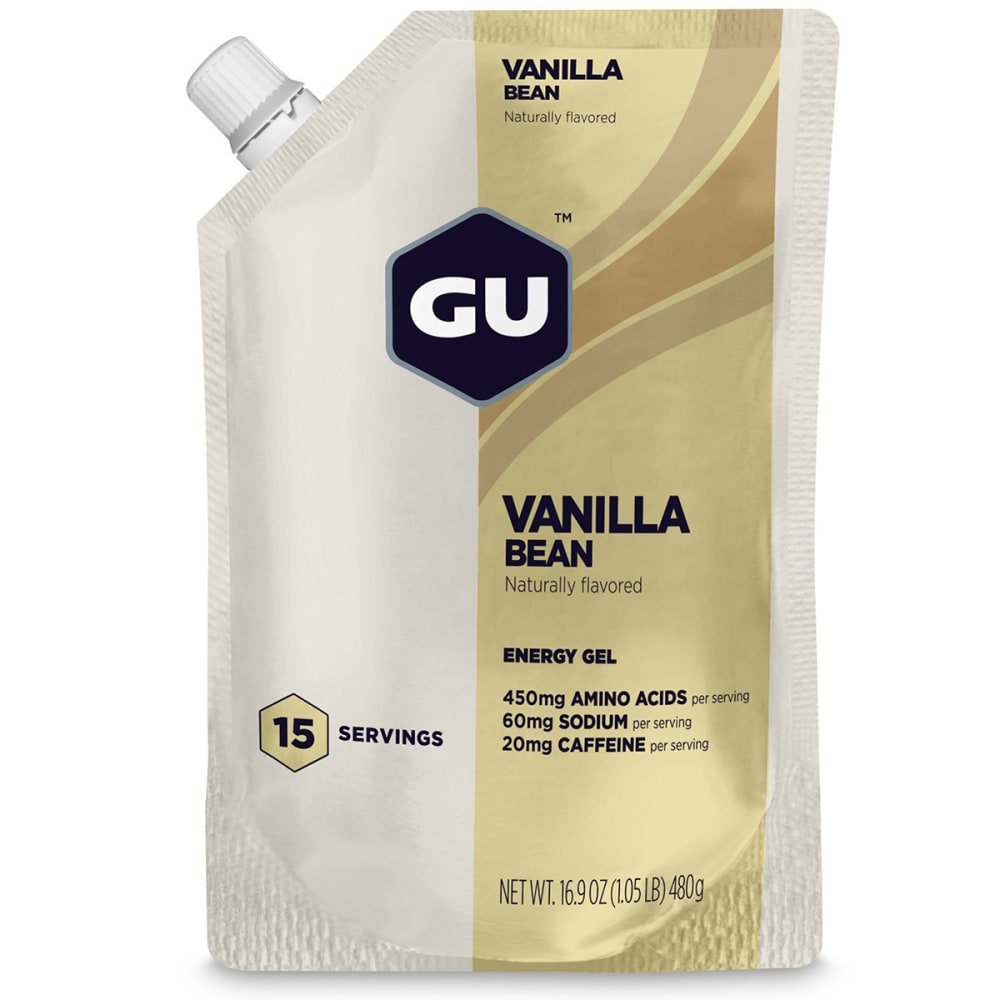 GU ENERGY Vanilla Bean Gel, 15-Serving Pouch - NO COLOR