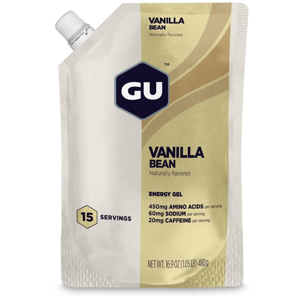 GU ENERGY Vanilla Bean Gel, 15-Serving Pouch - NO COLOR