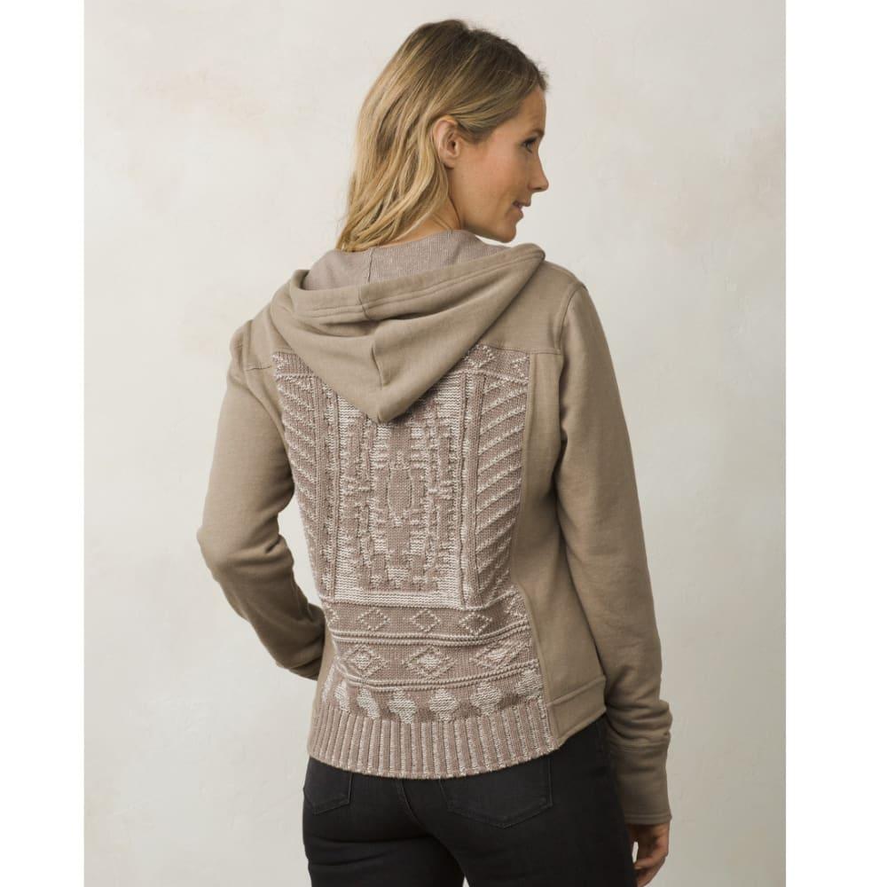 PRANA Women's Ari Zip Up Fleece - EARTH GREY