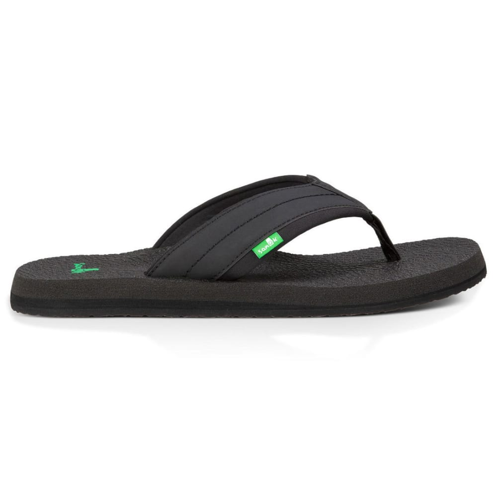 SANUK Men's Beer Cozy 2 Flip Flops - BLACK-BLK