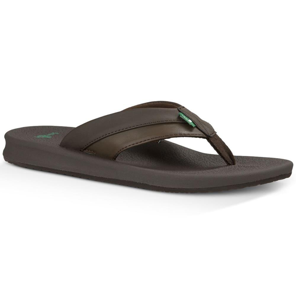 SANUK Men's Brumeister Sandals - BROWN-BRN