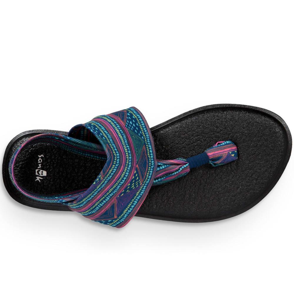 SANUK Women's Yoga Sling 2 Prints Sandals - NAVY MULTI GEO-NMGS