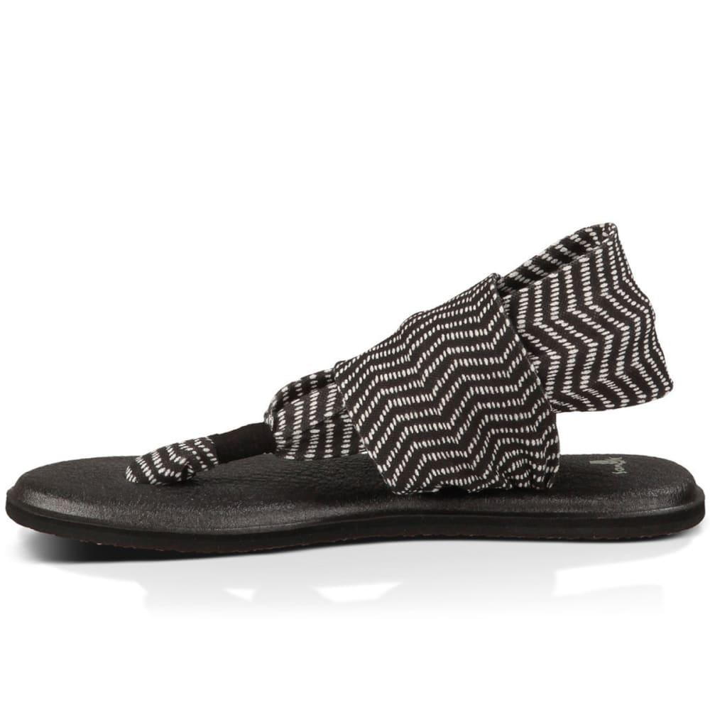 SANUK Women's Yoga Sling 2 Prints Sandals - BLACK/NATURAL