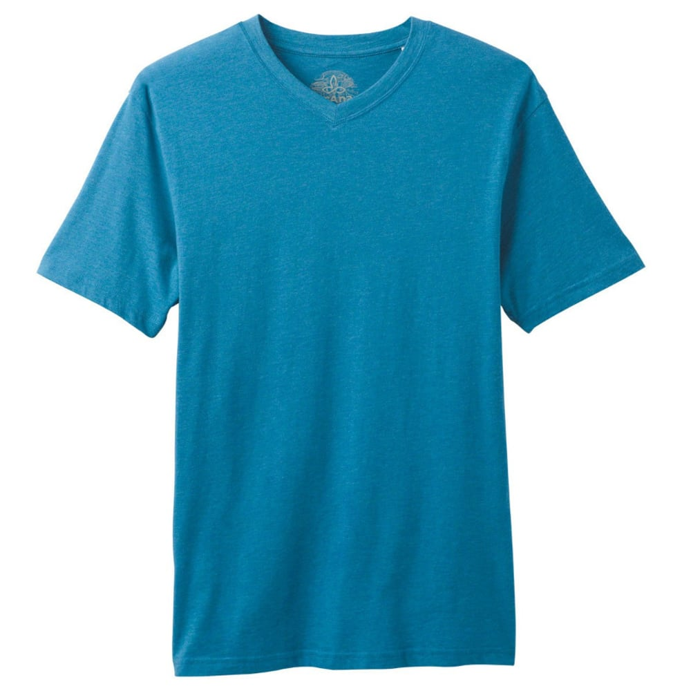 PRANA Men's V-Neck - RIVER ROCK BLUE