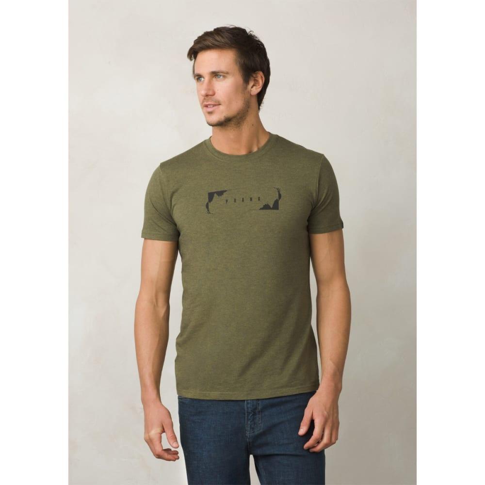 PRANA Men's Block T-Shirt - CARGO GREEN