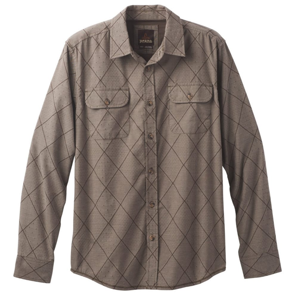 PRANA Men's Rennin Shirt - BROWN