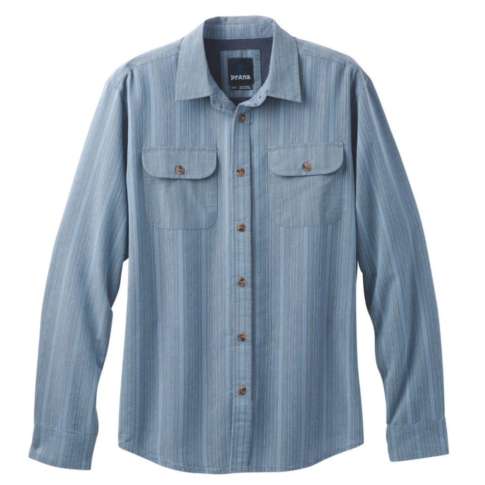 PRANA Men's Rennin Shirt - ASPEN BLUE