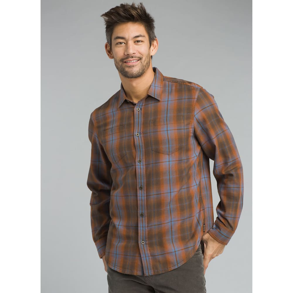 PRANA Men's Holton Shirt - SCORCHED BROWN