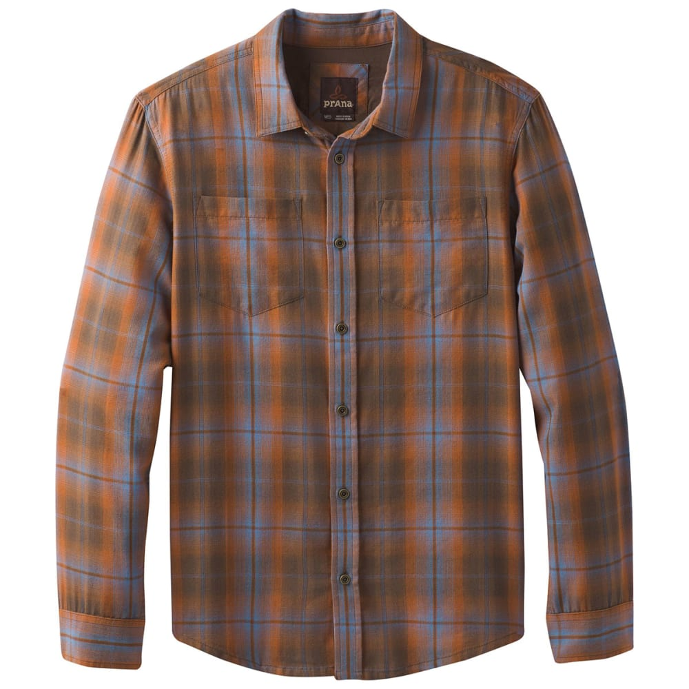 PRANA Men's Holton Shirt - SCORCHED BROWN