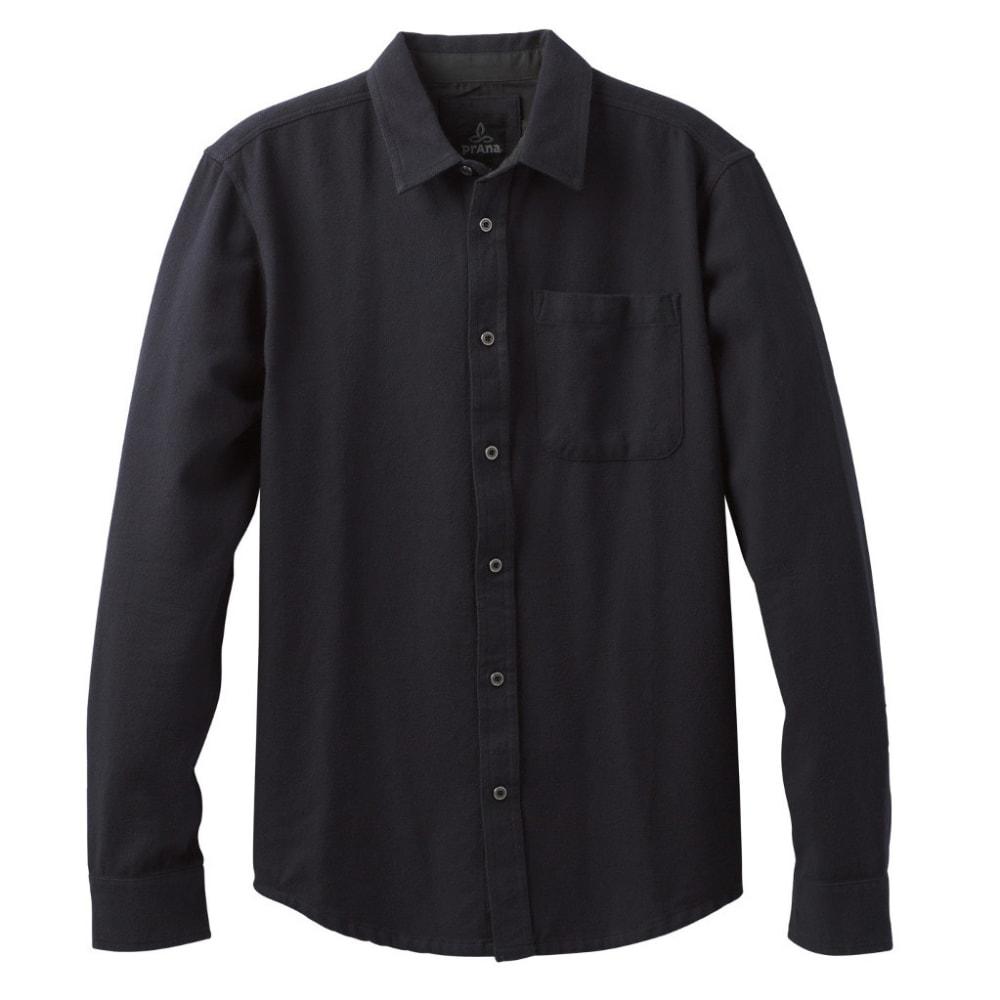 PRANA Men's Woodman Lightweight Flannel Shirt - SOLID BLACK