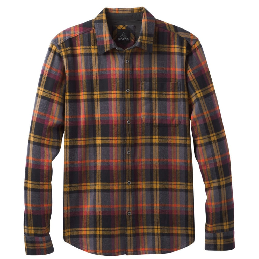 PRANA Men's Woodman Lightweight Flannel Shirt - BRONZE