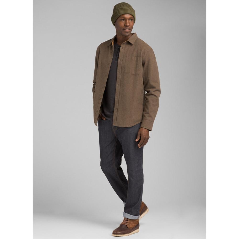 PRANA Men's Woodman Lightweight Flannel Shirt - RICH BROWN
