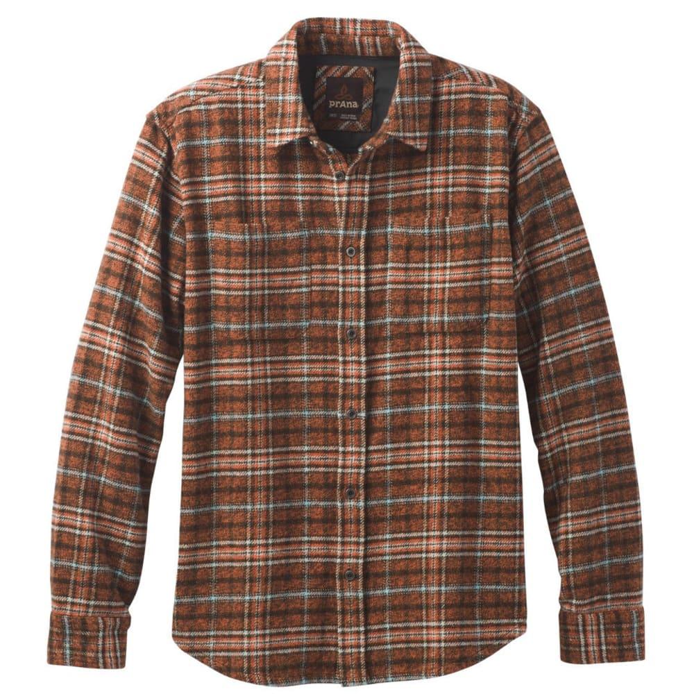 PRANA Men's Brayden Heavyweight Flannel Shirt - CAYENNE