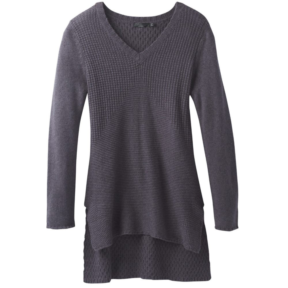 PRANA Women's Deedra Sweater Tunic - COAL