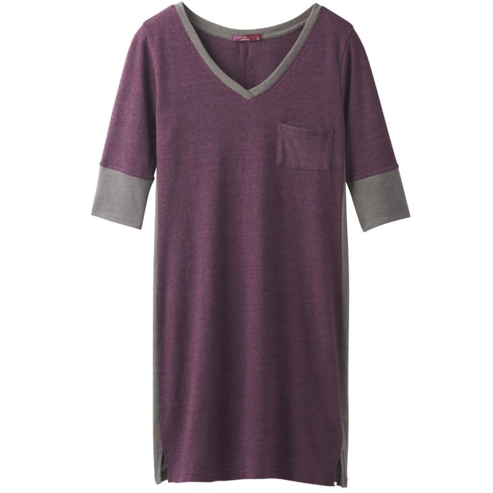 PRANA Women's Matilda Dress - DARK PLUM