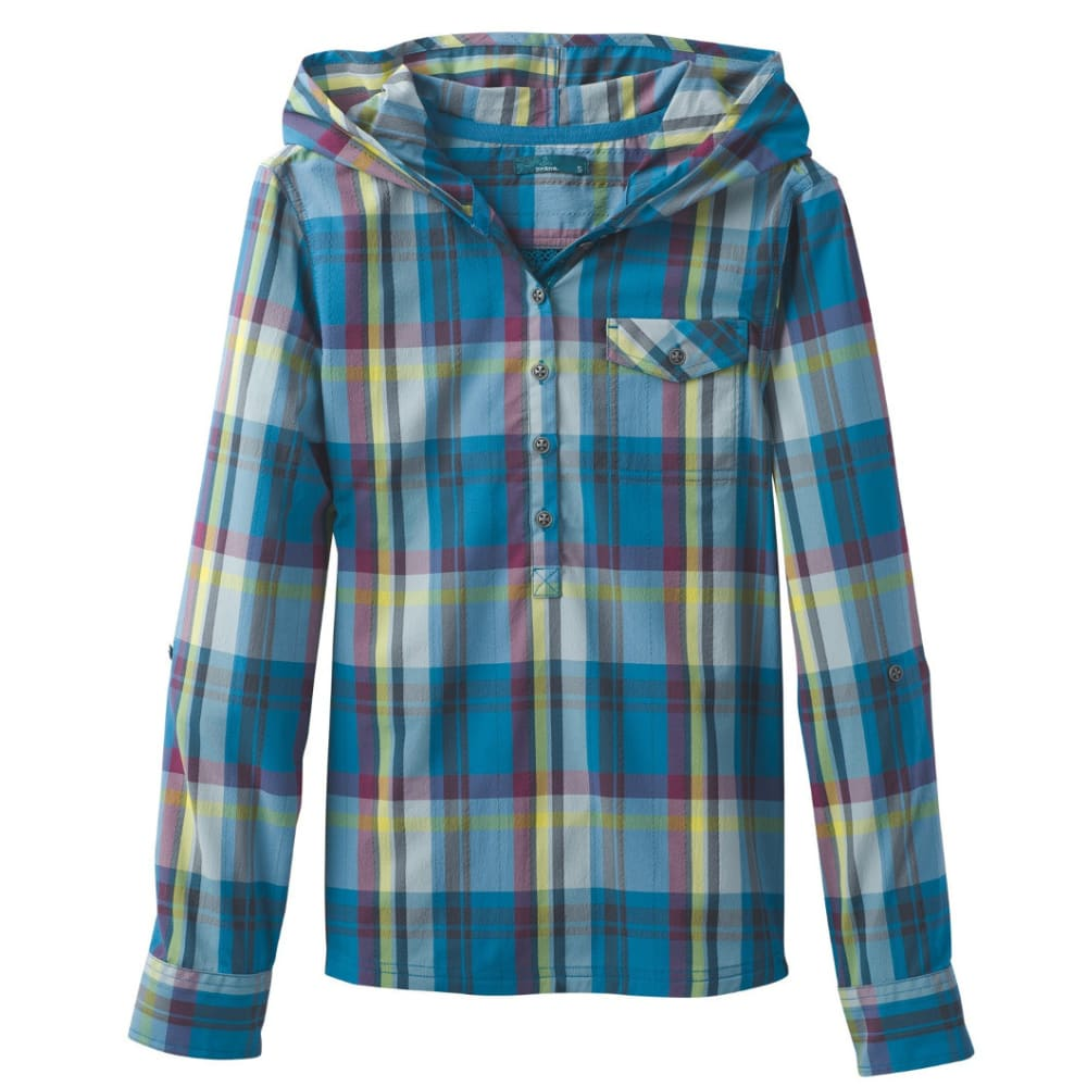 PRANA Women's Anja Top - RIVER ROCK BLUE
