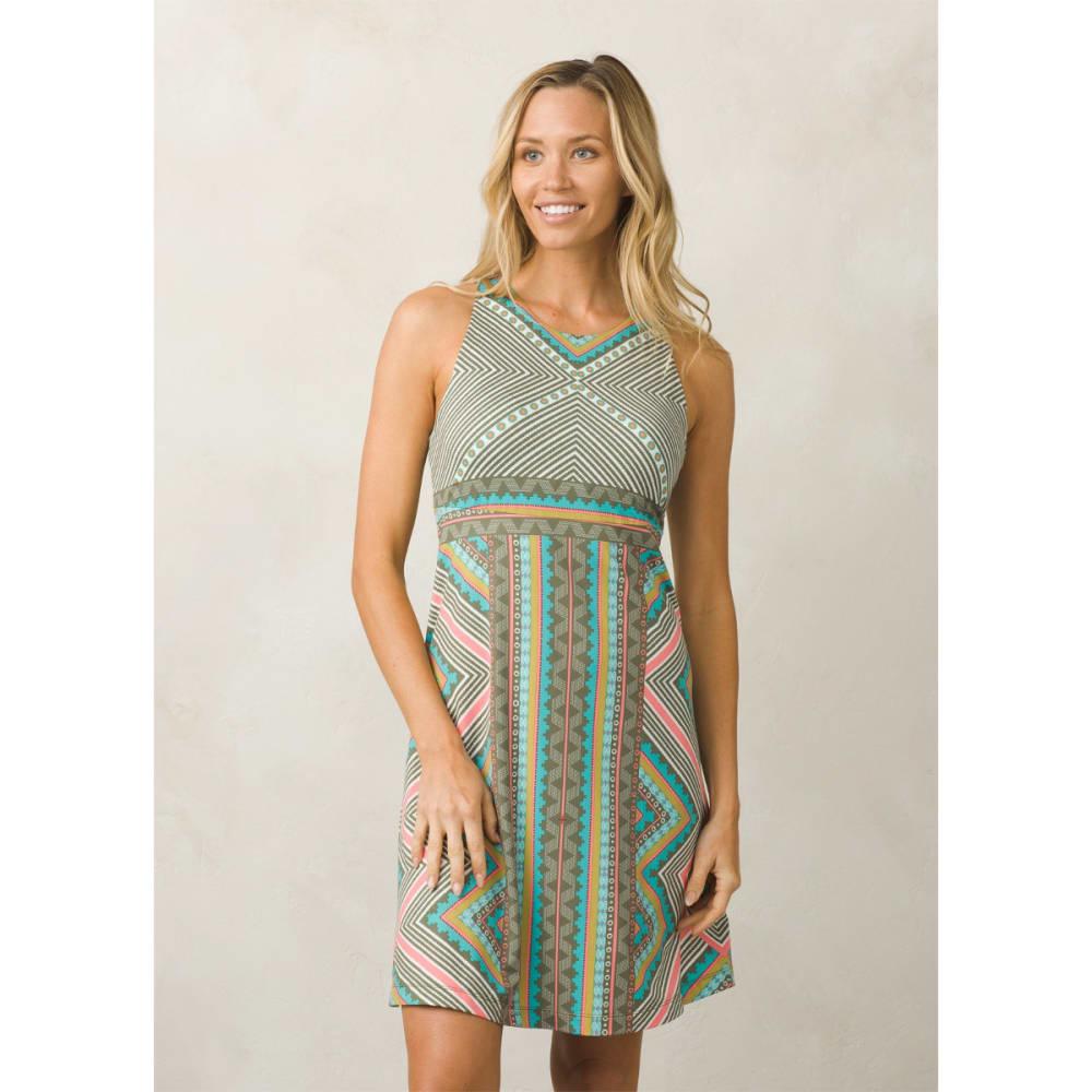 PRANA Women's Ariel Dress - GREEN TAOS