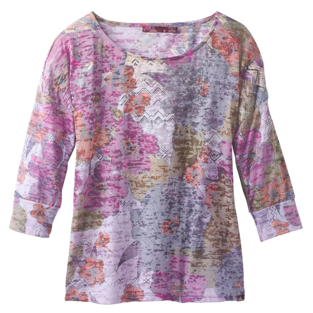 PRANA Women's Bouquet Top - DEEP FUCHSIA SPRNGTM