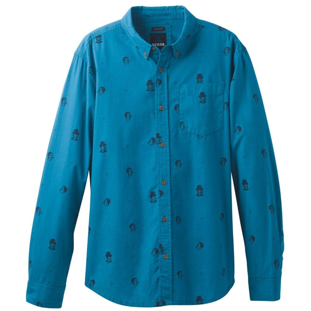 PRANA Men's Broderick Long Sleeve Shirt - RIVER ROCK BLUE