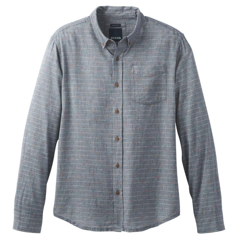 PRANA Men's Broderick Long Sleeve Shirt - NAUTICAL