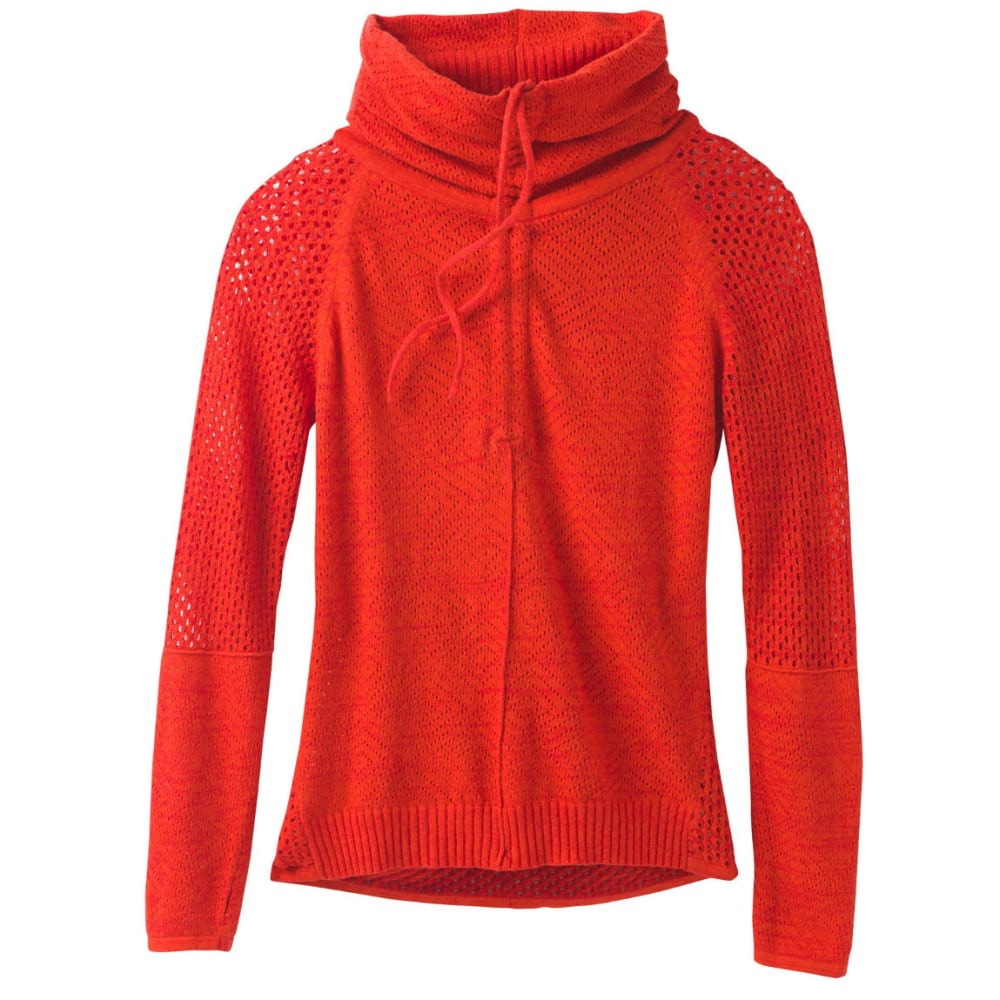 PRANA Women's Cedar Sweater - FIERY RED