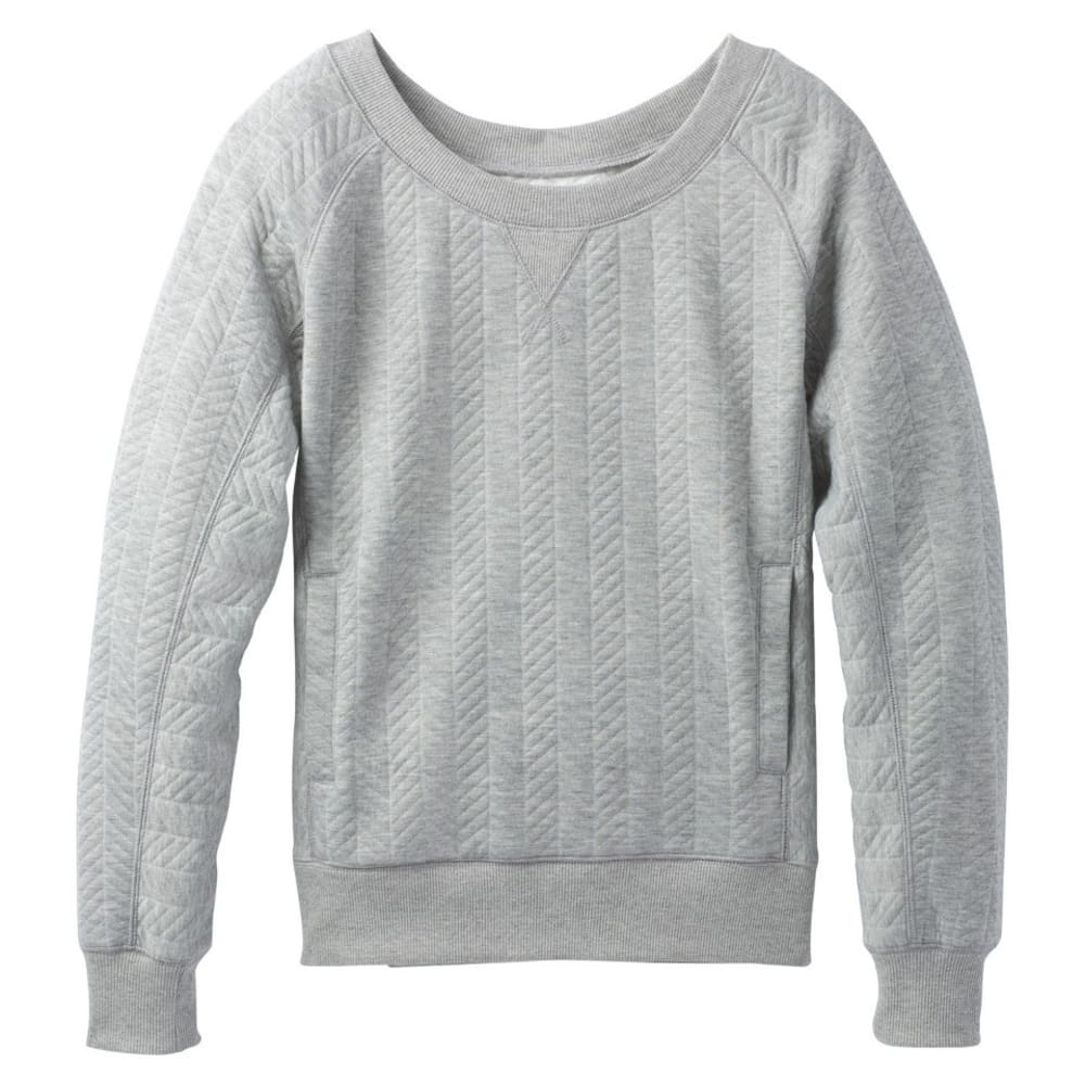 PRANA Women's Silverspring Pullover - HEATHER GREY