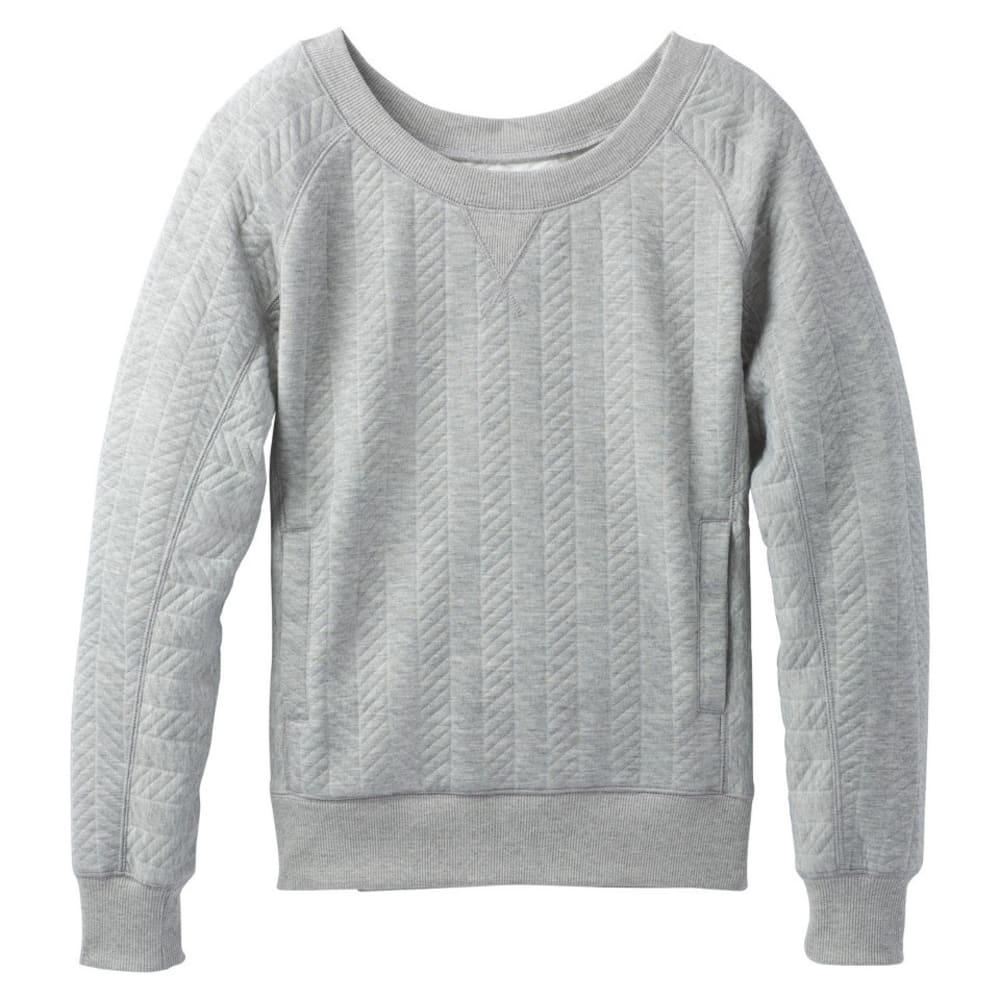 PRANA Women's Silverspring Pullover - HEATHER GREY