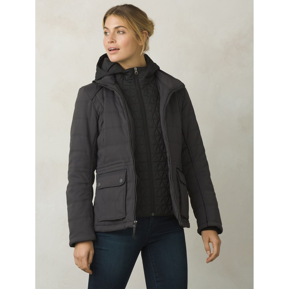 PRANA Women's Halle Insulated Jacket - CHARCOAL