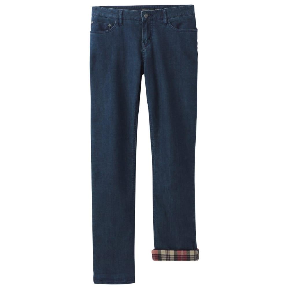 PRANA Women's Lined Boyfriend Jeans - INDIGO