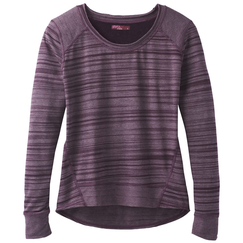 PRANA Women's Fallbrook Long-Sleeve Top - DARK PLUM