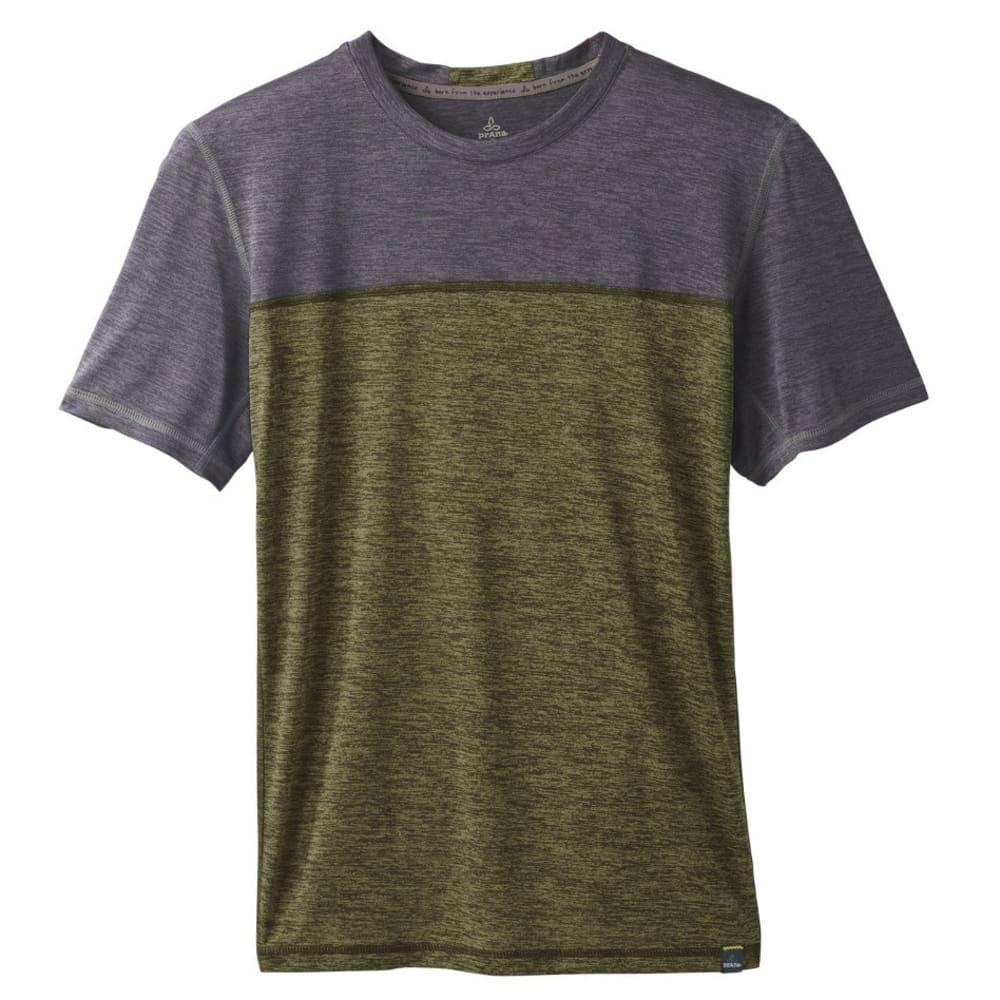 PRANA Men's Hardesty Colorblock Shirt - CARGO GREEN