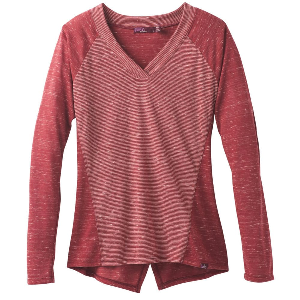 PRANA Women's Jinny Top - WOODLAND RED