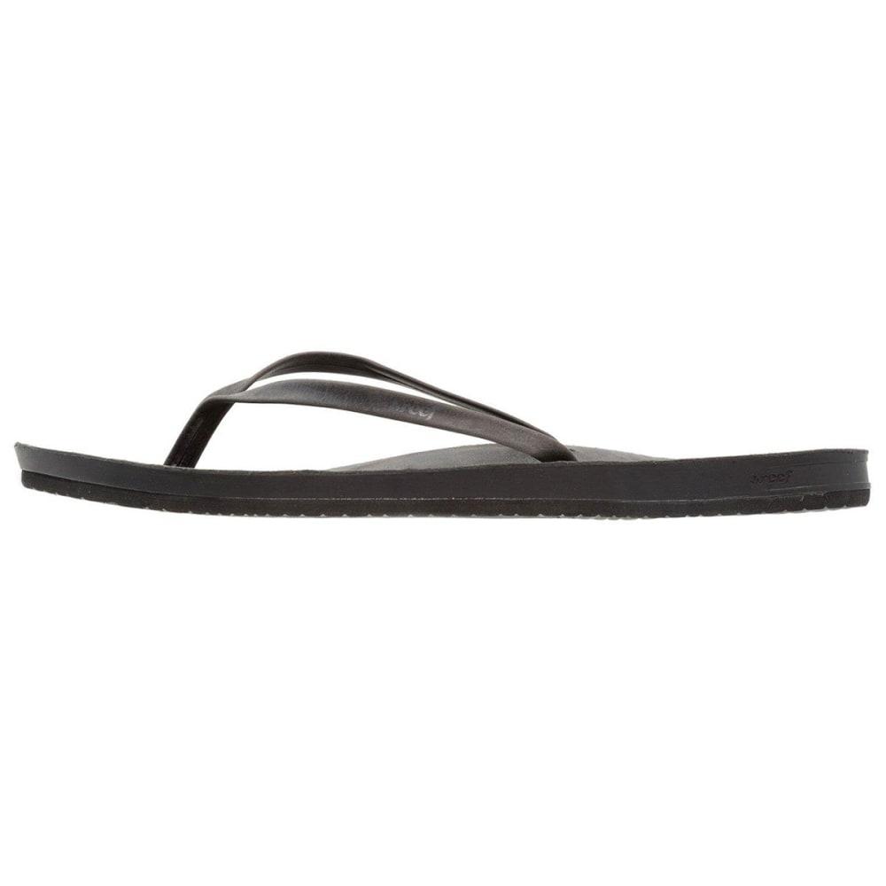 REEF Women's Cushion Bounce Slim Sandals - BLACK-BLA