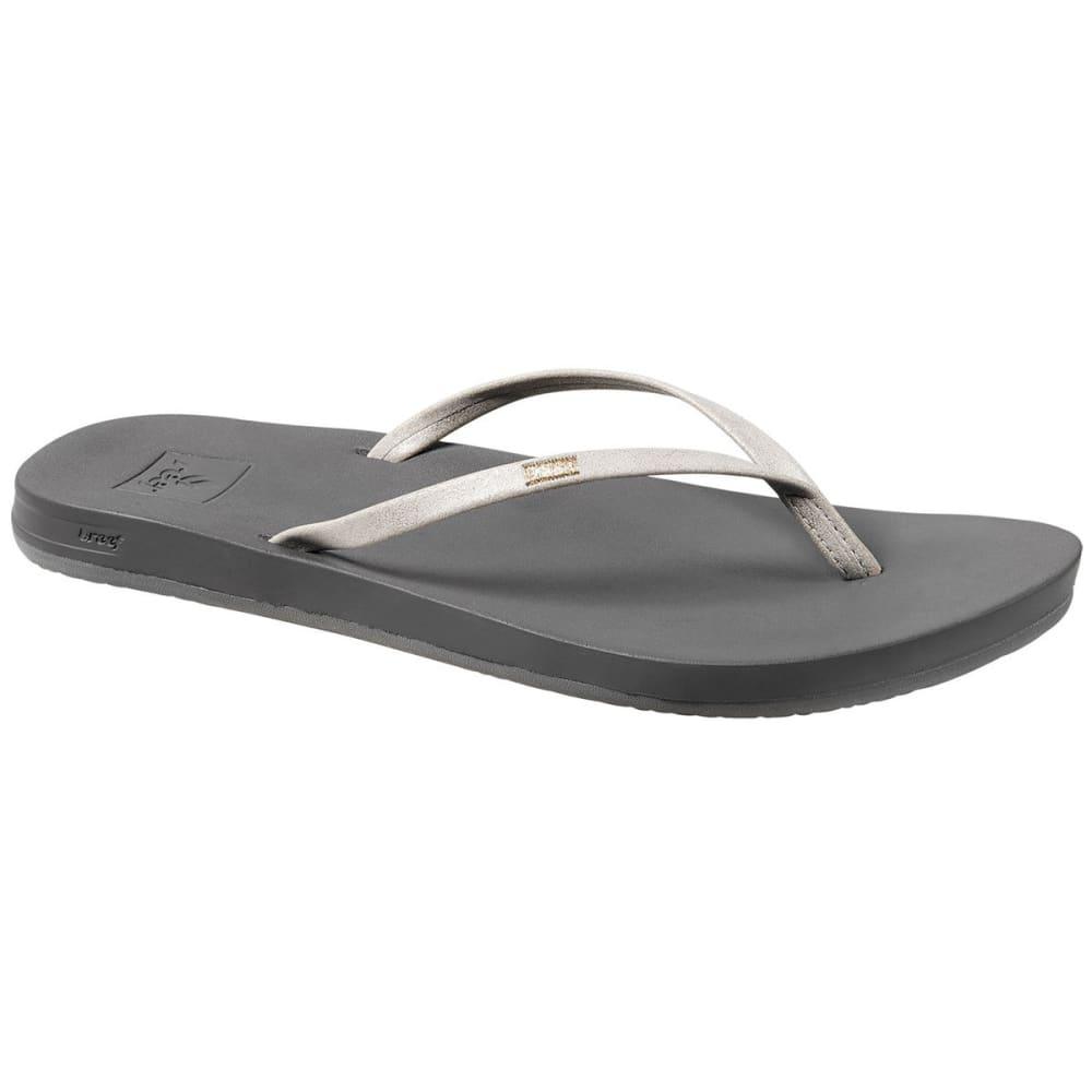 Reef Women's Cushion Bounce Slim Sandals - Black - Size 9 RF0A39U6