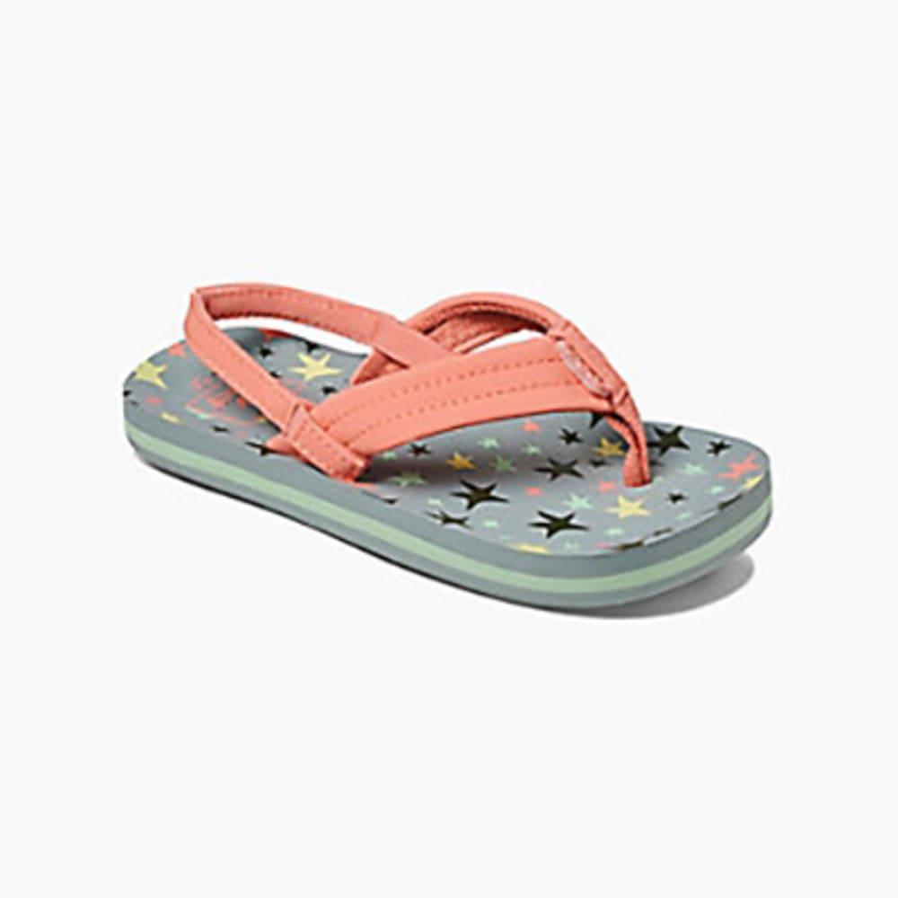 REEF Girl's Little Ahi Sandals 4/5