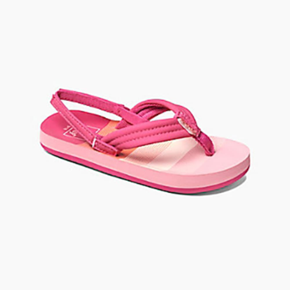 REEF Girl's Little Ahi Sandals 4/5